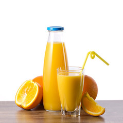 orange juice and fruit
