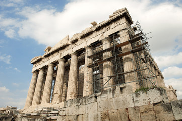 Scaffolding on the Acropolis