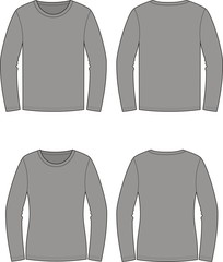Vector illustration of men's and women's jumpers