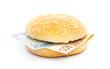 Euro burger with bank notes