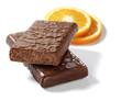 chocolate bars with orange slices