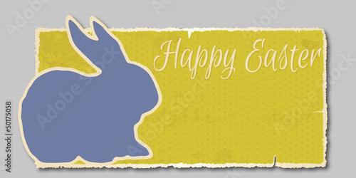 vintage Happy Easter banner