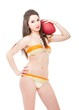 young lolita play football in bikini