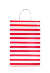Empty shopping bag isolated on white background