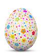 Osterei, Ostern, Ei, Blumen, Pünktchen, Blumen, gepunktet, 3D