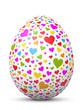 Osterei, Ostern, Ei, Herz, Liebe, Herzchen, Muster, Design, 3D