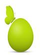 Osterei, Ostern, Ei, Schmetterling, Design, Grün, einfach, 3D