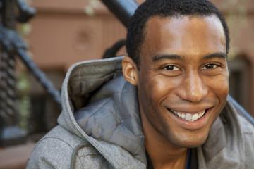Close up of smiling Black man