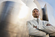 African American businessman with arms crossed