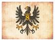 Grunge-Flagge Preussen (historisch)