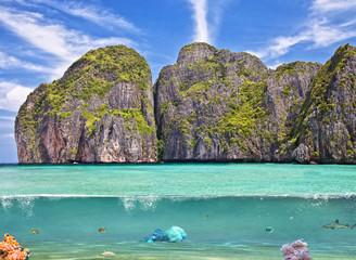 Phi Phi island underwater. Thailand