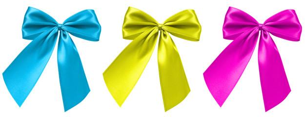 Hellblau, Gelb und Rosa Bandschleife