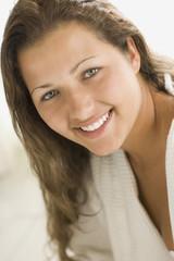 Smiling Brazilian woman