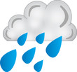 nuvola pioggia - icone meteo
