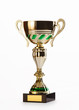 golden cup of the winner isolated on white background