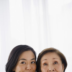 Japanese mother and daughter together