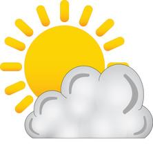 sole nuvola - icone meteo - nuvoloso