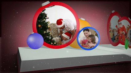 Photo album montage of christmas time
