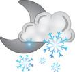 luna nuvola neve - icone meteo