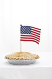 American flag in pie