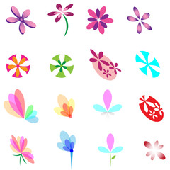 Flower Symbol Set