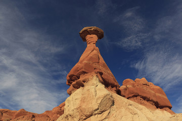 Rock formation against blue sky