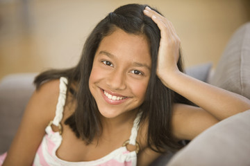 Smiling Hispanic girl