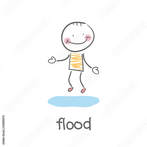 flood. Illustration.