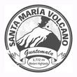 Grunge black stamp with words Santa Maria Volcano, Guatemala