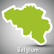 Belgium map sticker