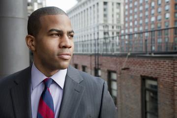 Serious Black businessman