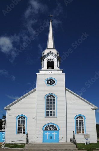 Quebec, the historical church of Baie Sainte Catherine