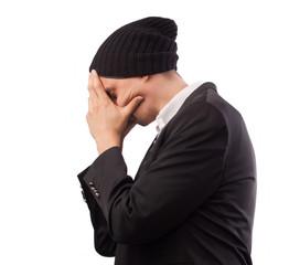 businessman headache, pain, tired