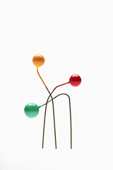 Bent, colorful pins