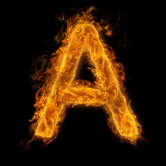 Flaming Letter A