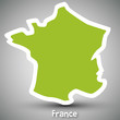France map sticker