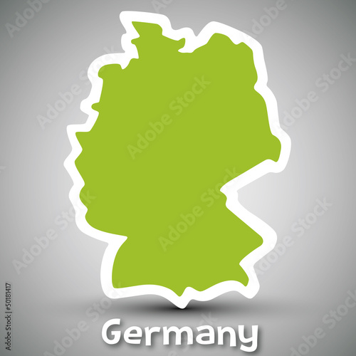 Germany map sticker