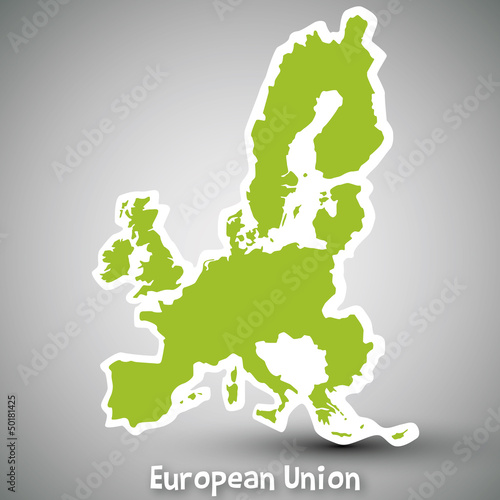European Union map sticker
