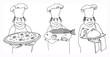 Three chefs
