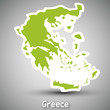 Greece map sticker