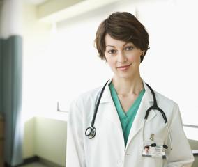 Smiling Caucasian doctor