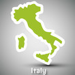 Italy map sticker