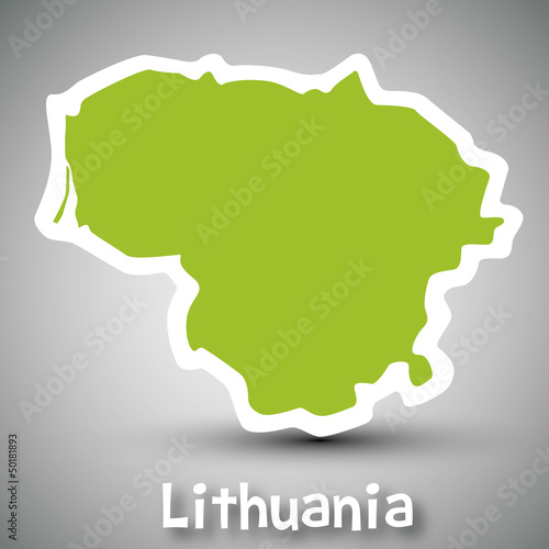 Lithuania map sticker