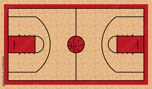 Wall mural basketball court basketball for Basketball court mural