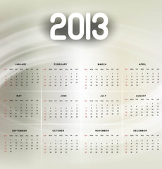 2013 calendar bright colorful shiny vector background