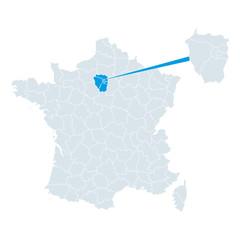 Carte de France Vector