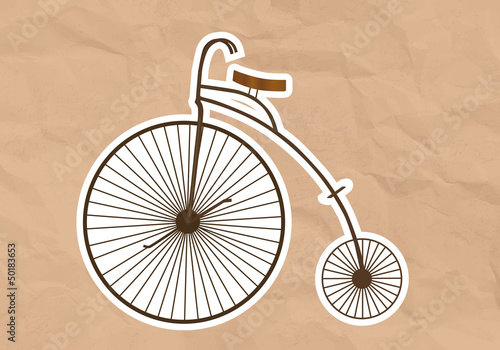 illustration of a Velocipede  High Wheel Bicycle