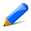 blauer Bleistift, vektor