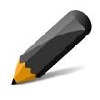 schwarzer Bleistift, vektor