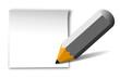 Zettel + Bleistift, vektor